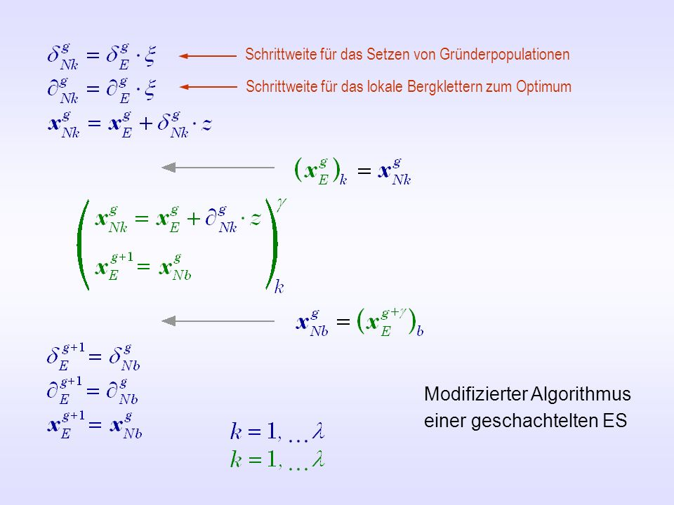 Modifizierter Algorithmus einer geschachtelten ES