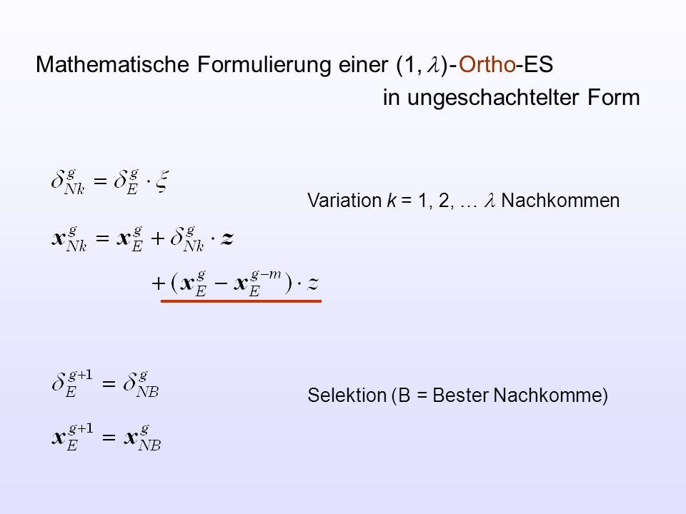 Mathematische Formulierung einer (1, l ) - Ortho-ES