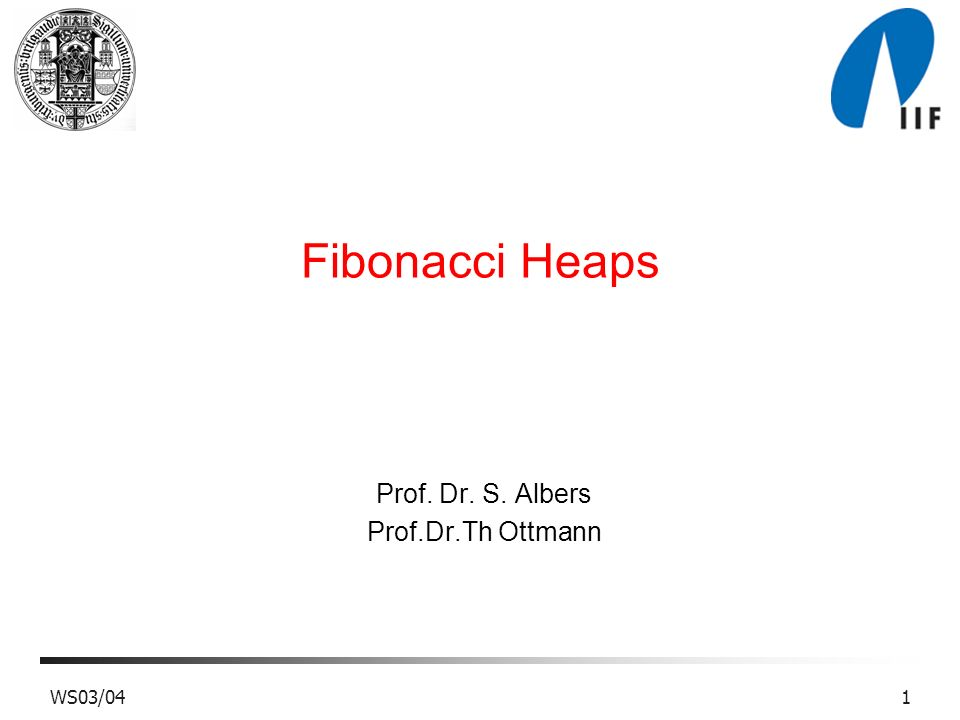 Prof. Dr. S. Albers Prof.Dr.Th Ottmann