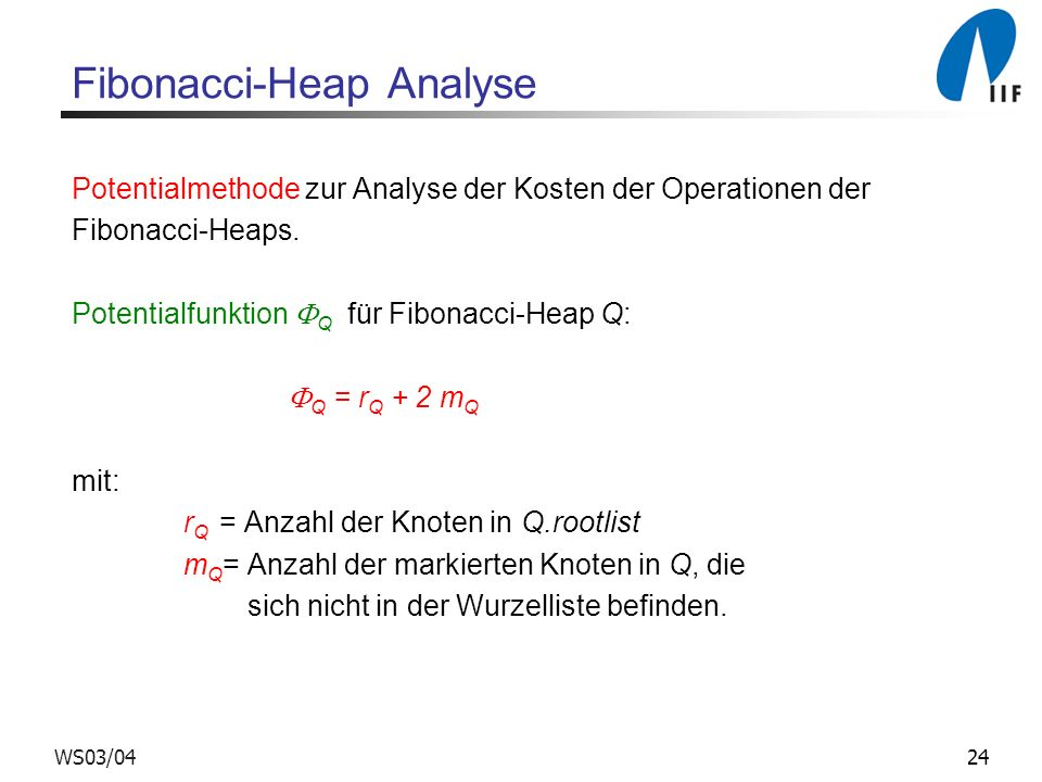 Fibonacci-Heap Analyse