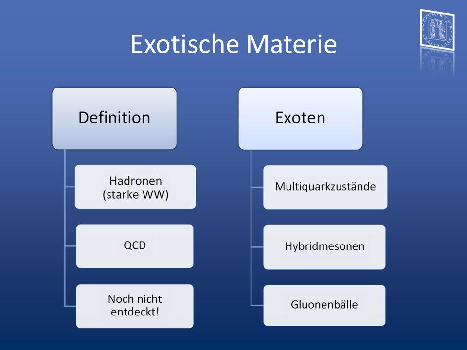 Exotische Materie Hybride: Hybridmesonen Aber auch Hybridfbaryonen