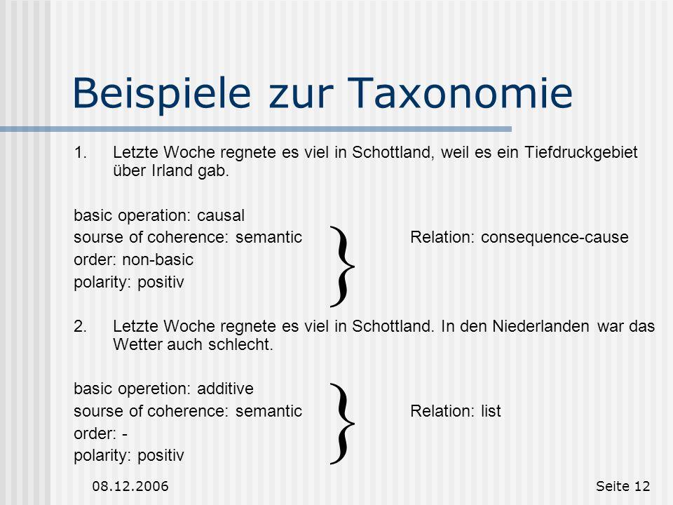 Beispiele zur Taxonomie