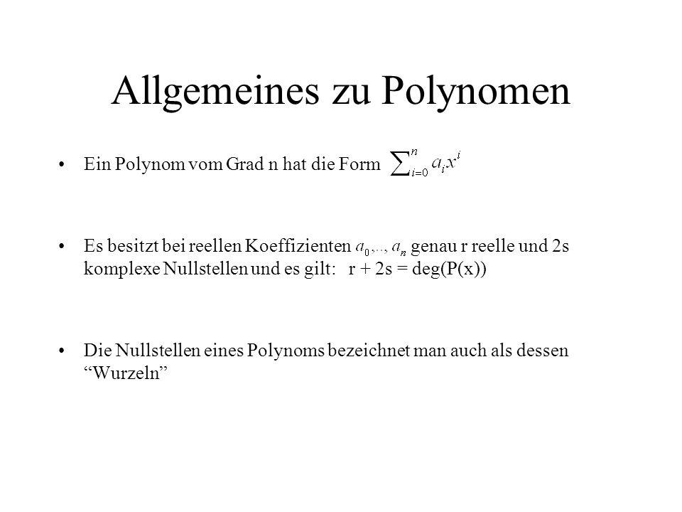 Allgemeines zu Polynomen