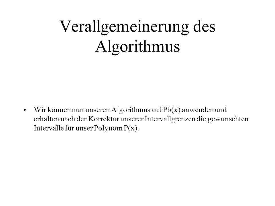 Verallgemeinerung des Algorithmus