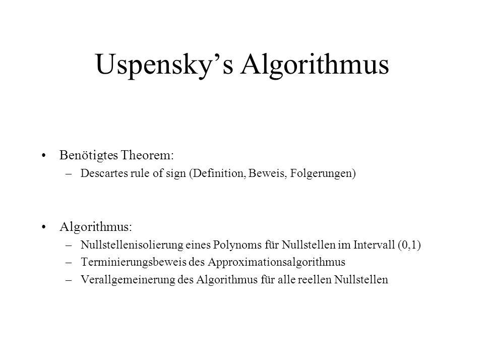 Uspensky's Algorithmus