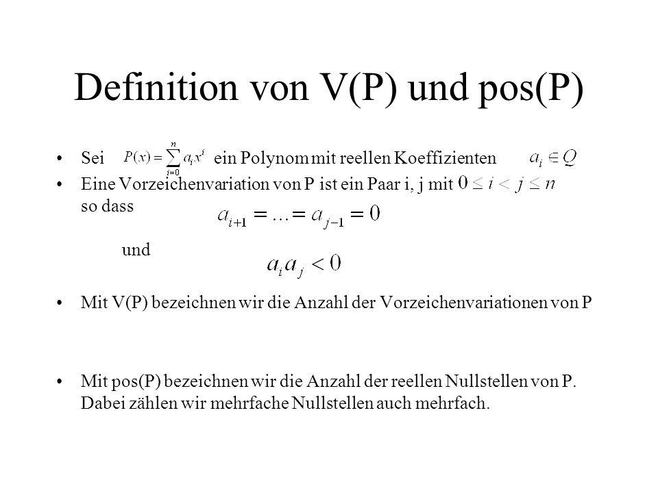 Definition von V(P) und pos(P)