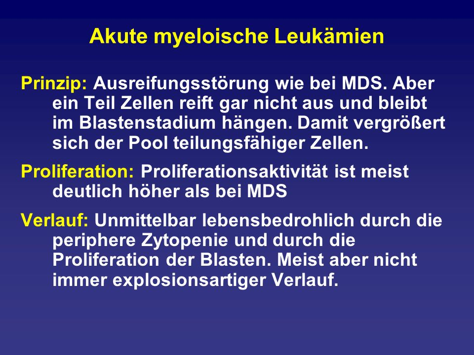 Akute myeloische Leukämien