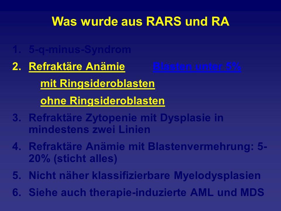 Was wurde aus RARS und RA