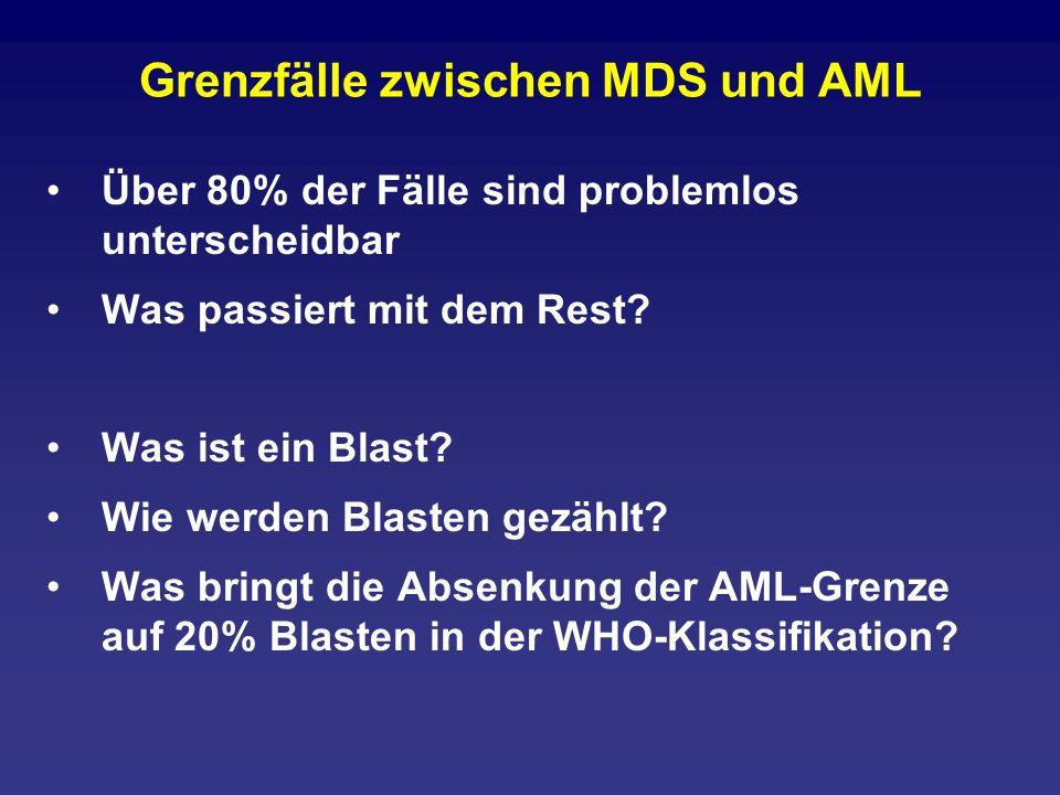 Grenzfälle zwischen MDS und AML