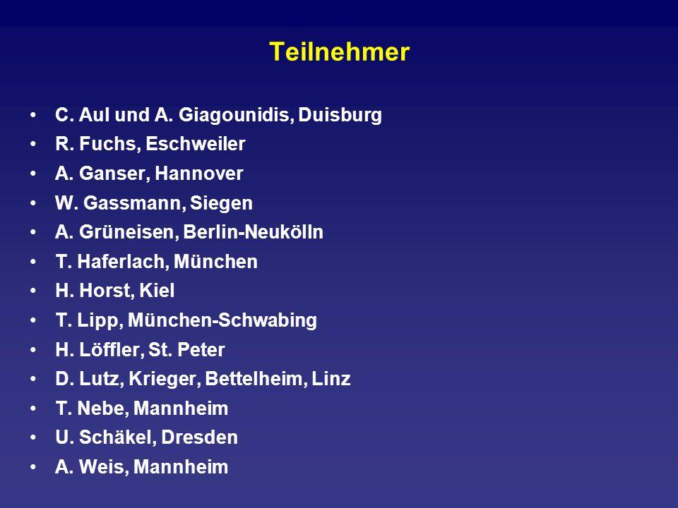 Teilnehmer C. Aul und A. Giagounidis, Duisburg R. Fuchs, Eschweiler