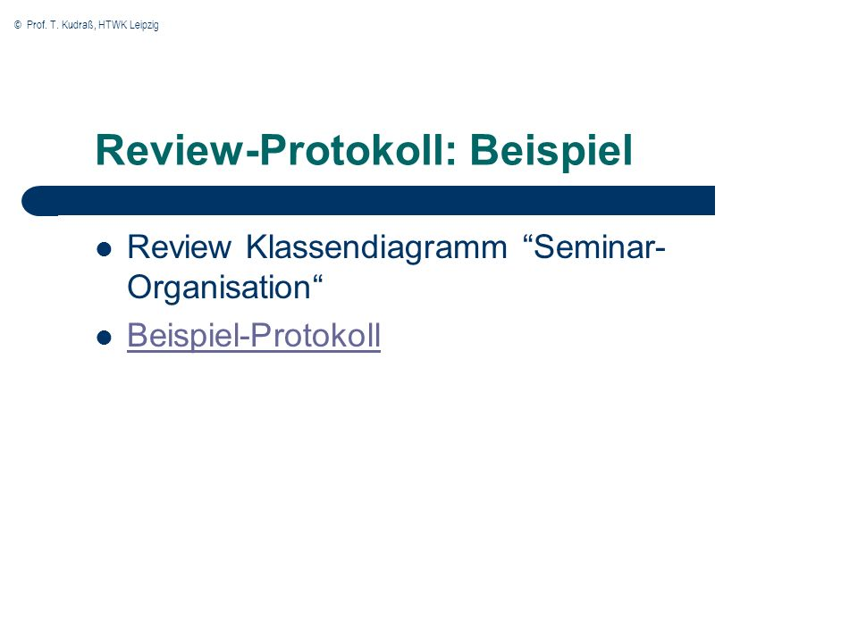Review-Protokoll: Beispiel