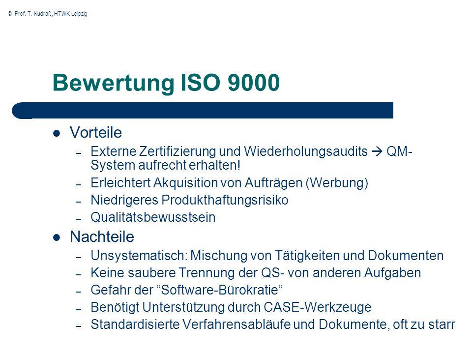 Bewertung ISO 9000 Vorteile Nachteile