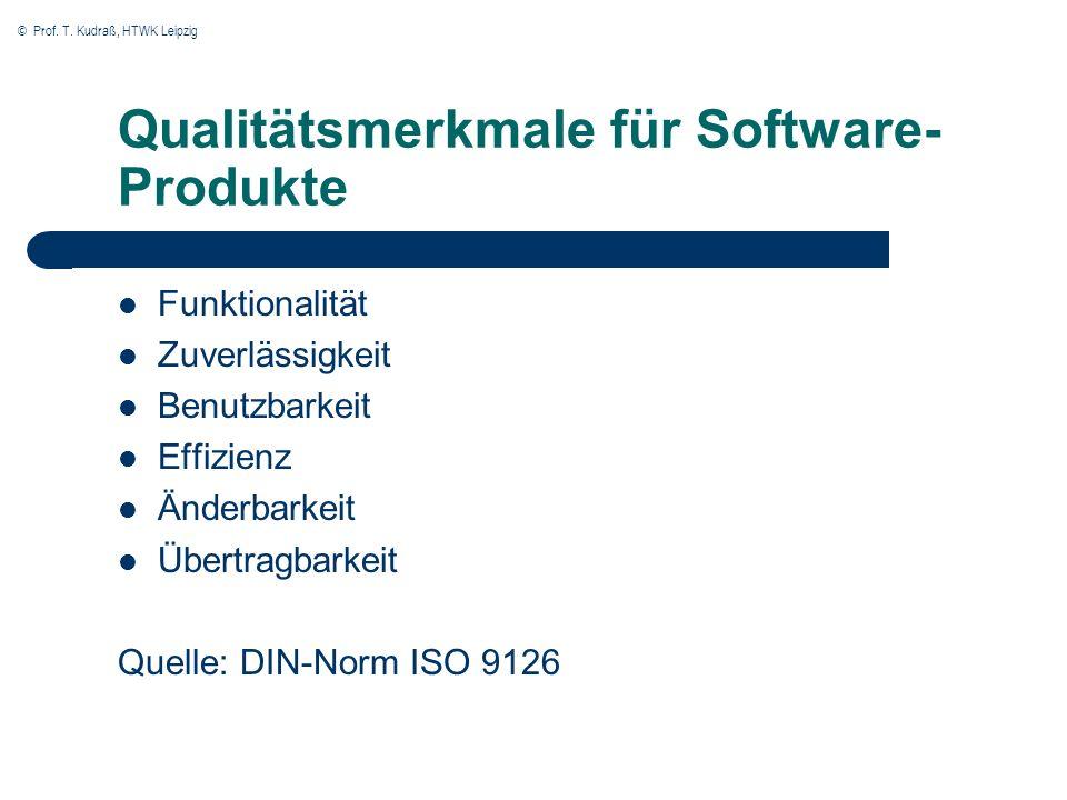 Qualitätsmerkmale für Software-Produkte