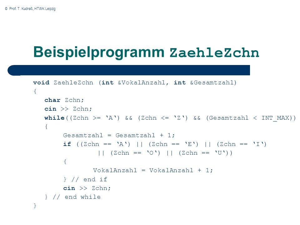 Beispielprogramm ZaehleZchn