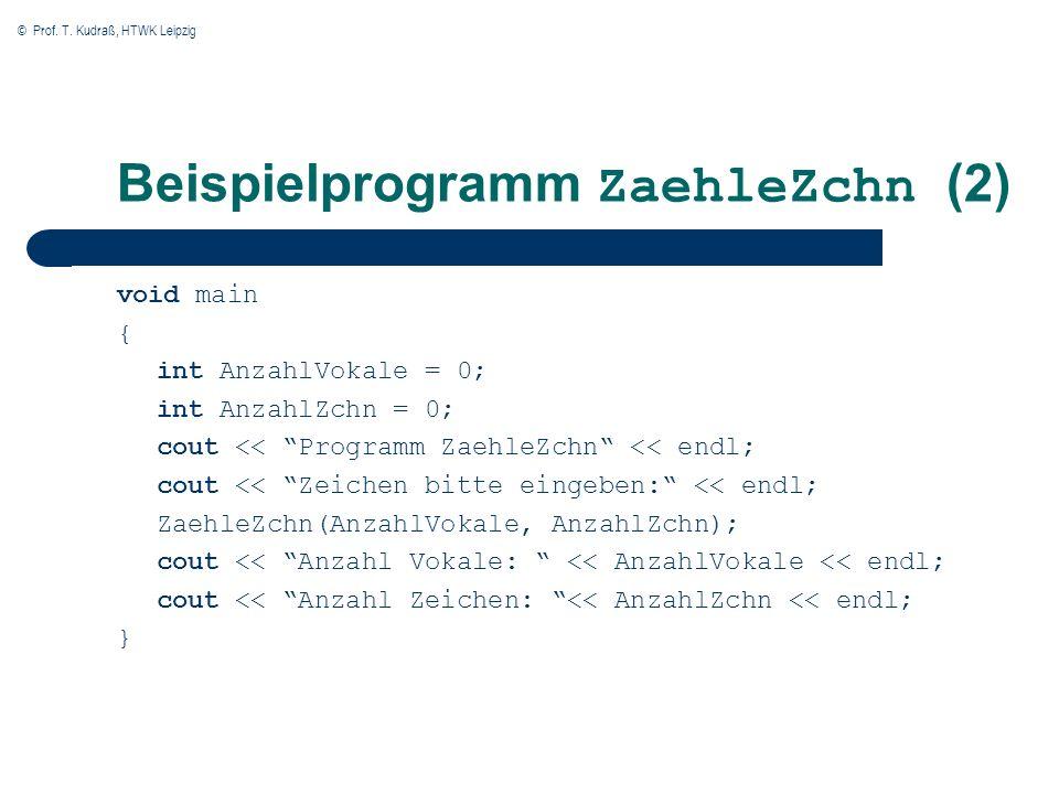 Beispielprogramm ZaehleZchn (2)