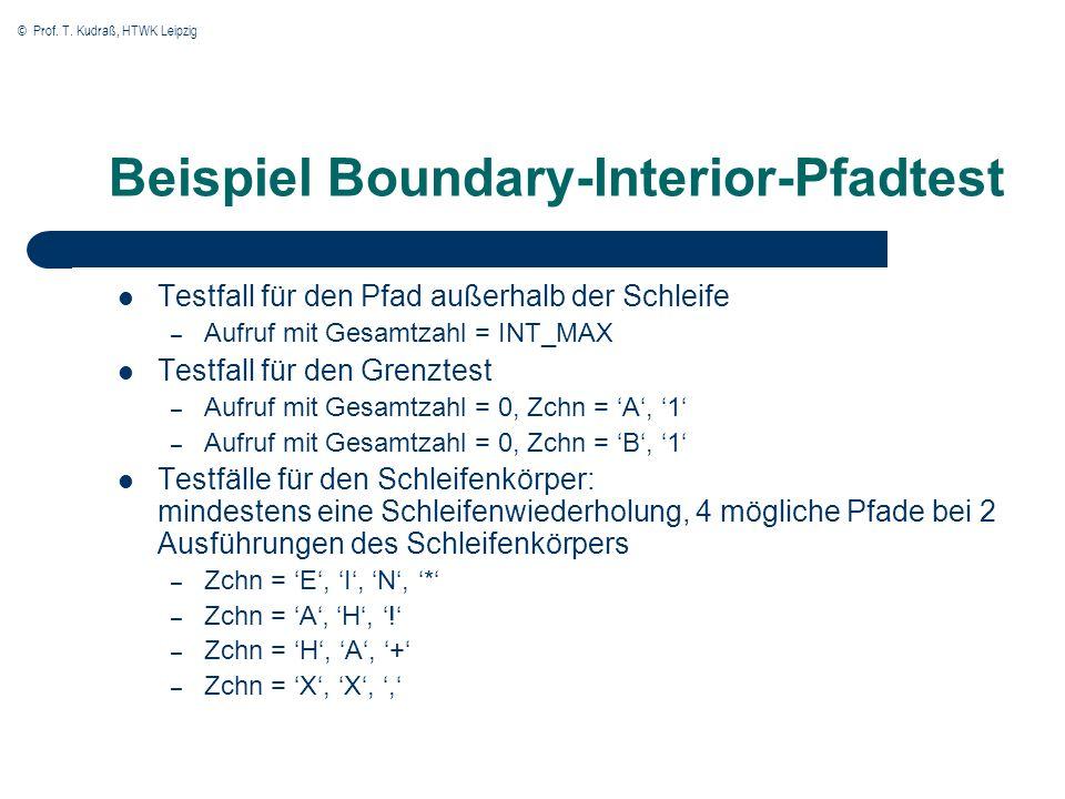 Beispiel Boundary-Interior-Pfadtest