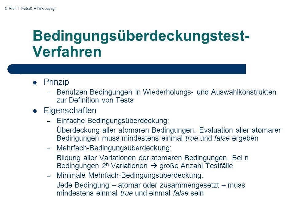 Bedingungsüberdeckungstest-Verfahren