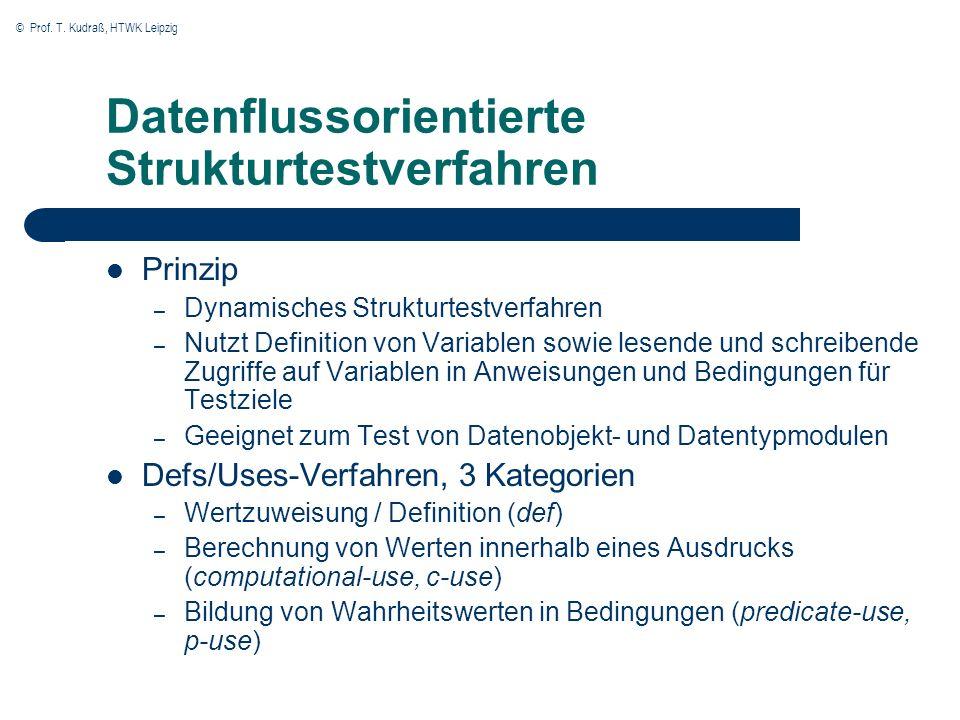 Datenflussorientierte Strukturtestverfahren