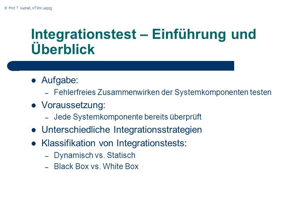 Integrationstest – Einführung und Überblick