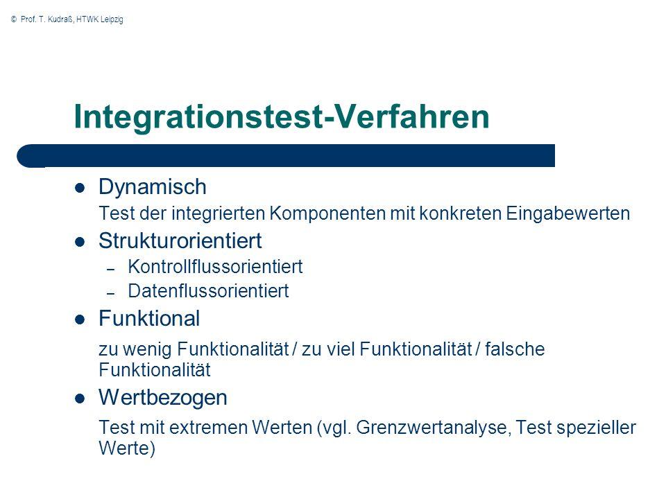 Integrationstest-Verfahren