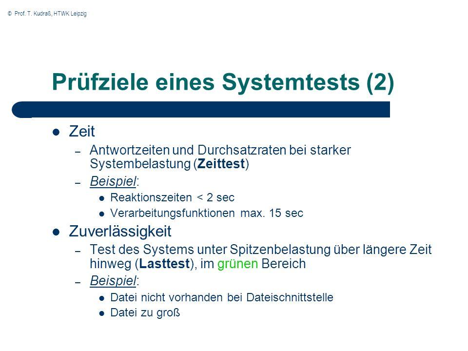 Prüfziele eines Systemtests (2)