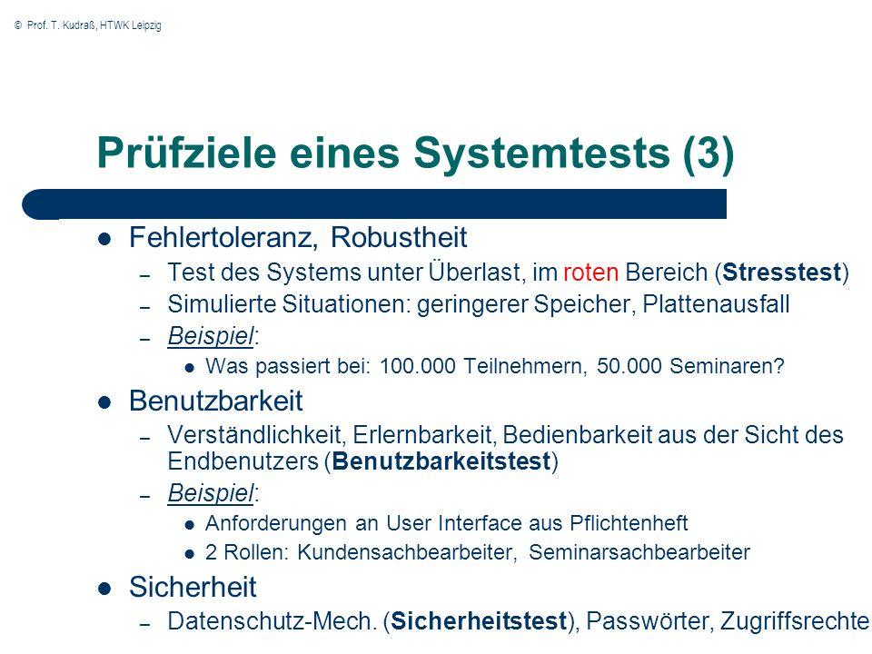 Prüfziele eines Systemtests (3)