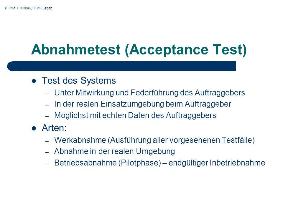 Abnahmetest (Acceptance Test)