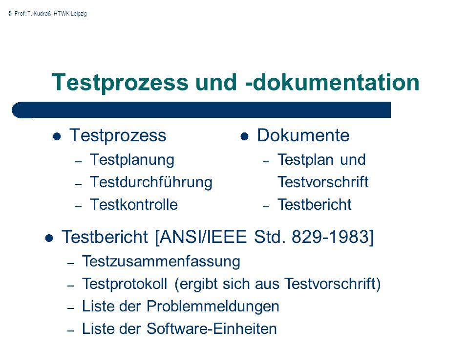 Testprozess und -dokumentation
