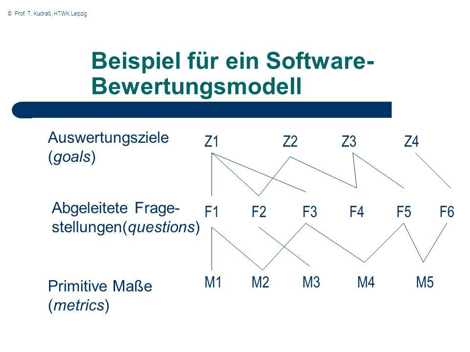 Beispiel für ein Software-Bewertungsmodell