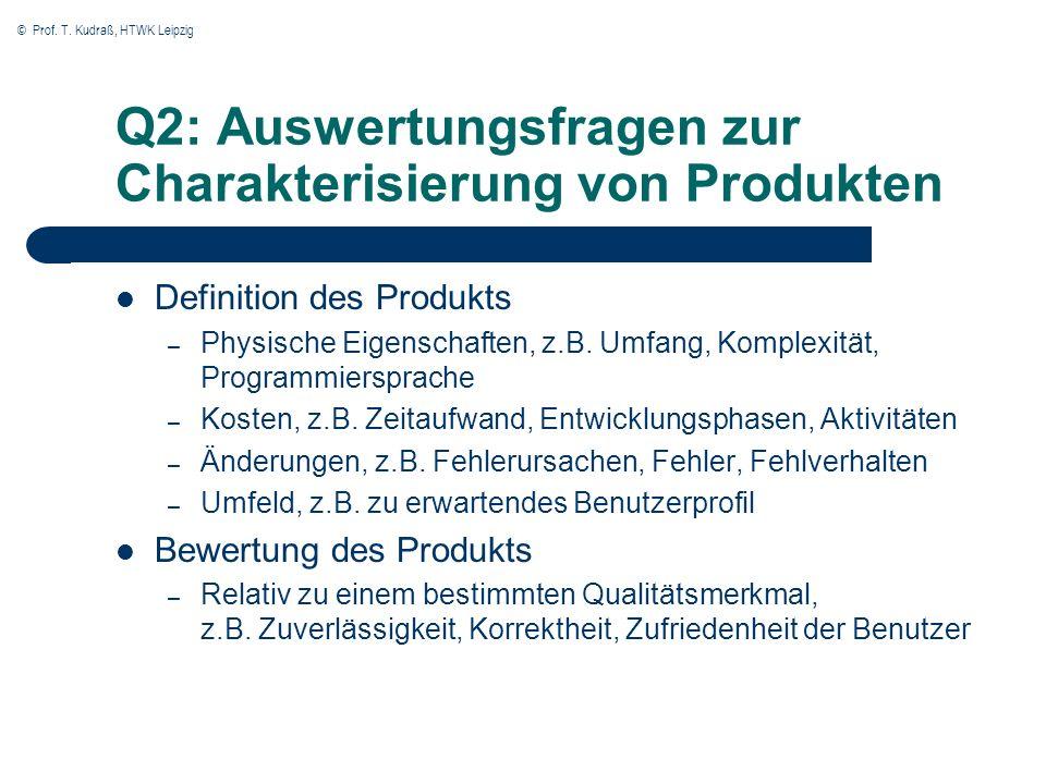 Q2: Auswertungsfragen zur Charakterisierung von Produkten