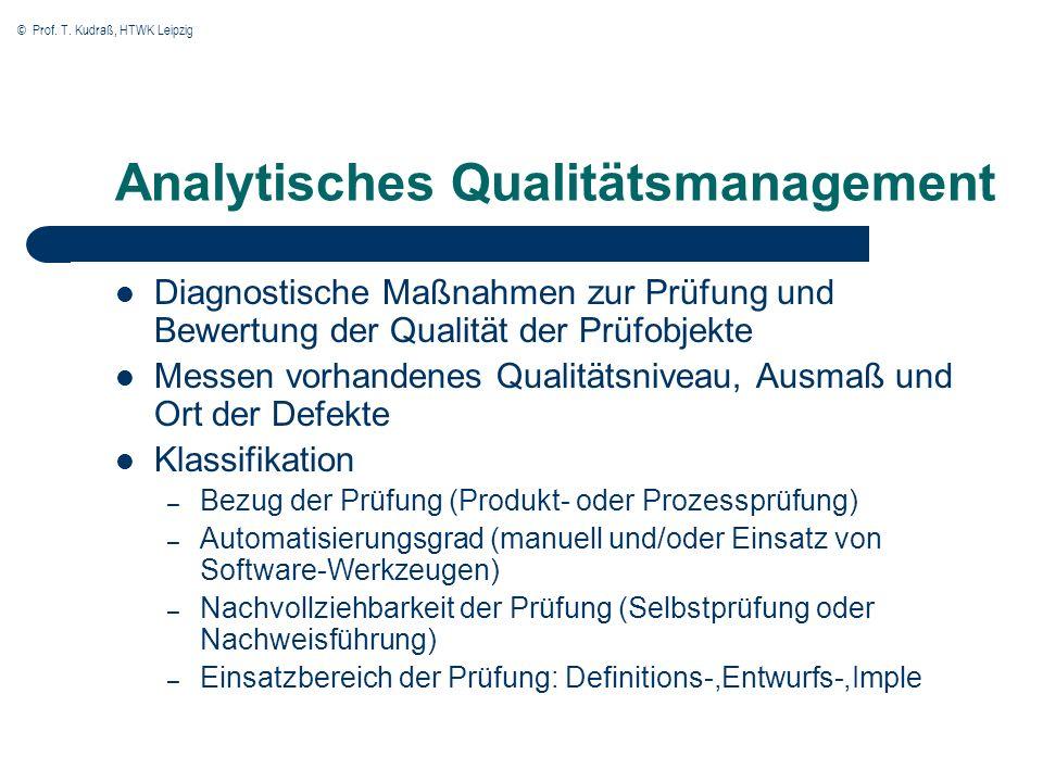 Analytisches Qualitätsmanagement