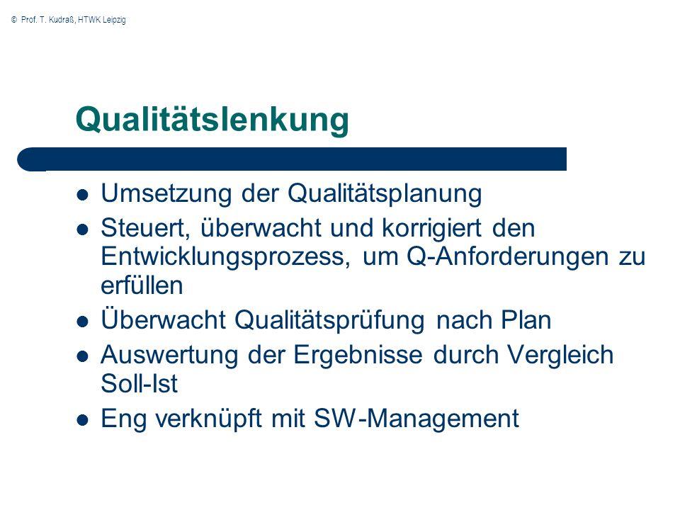 Qualitätslenkung Umsetzung der Qualitätsplanung