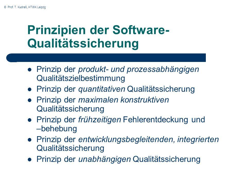 Prinzipien der Software-Qualitätssicherung