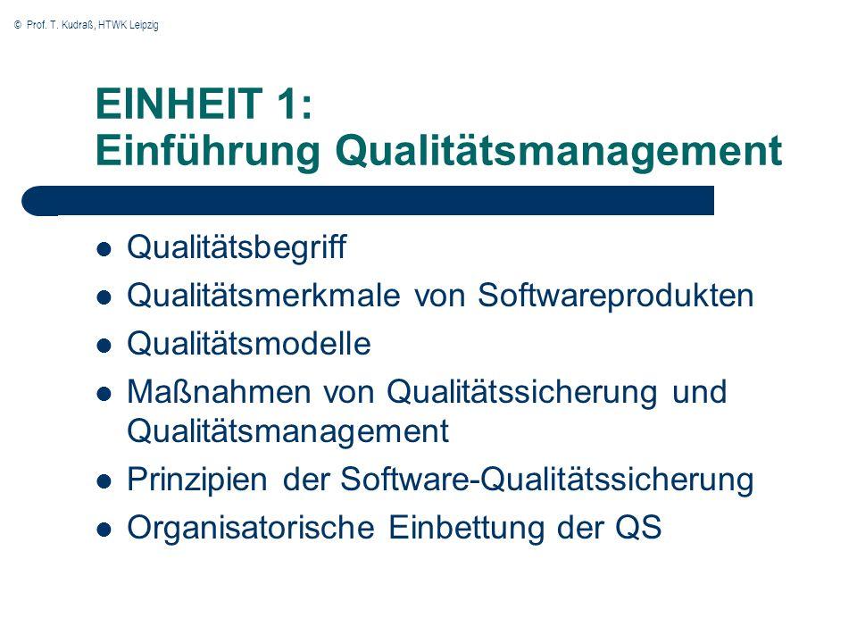 EINHEIT 1: Einführung Qualitätsmanagement