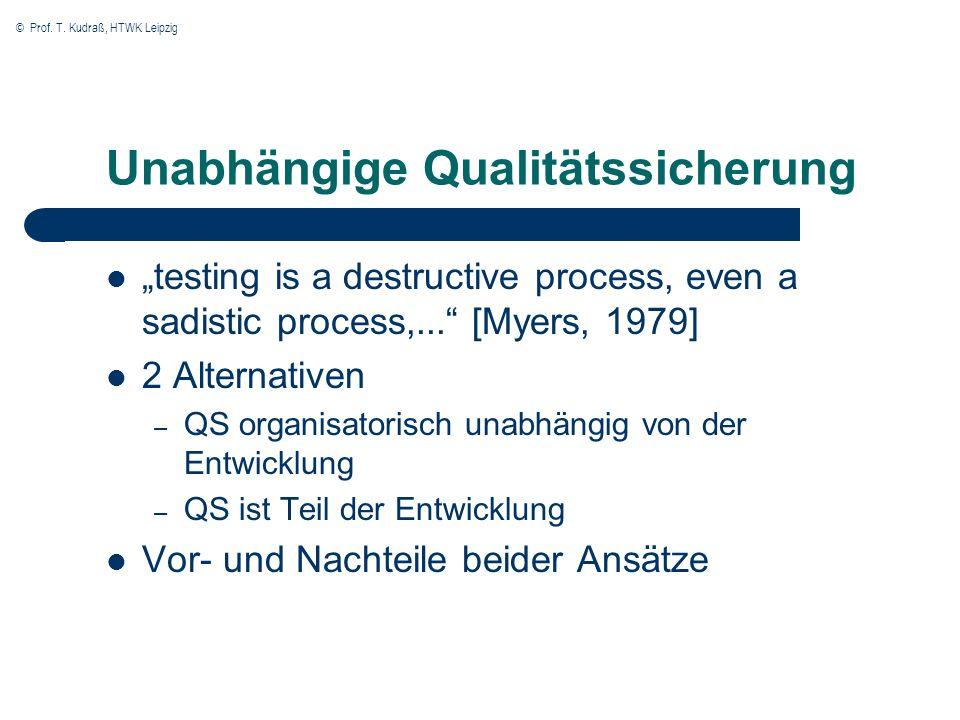 Unabhängige Qualitätssicherung
