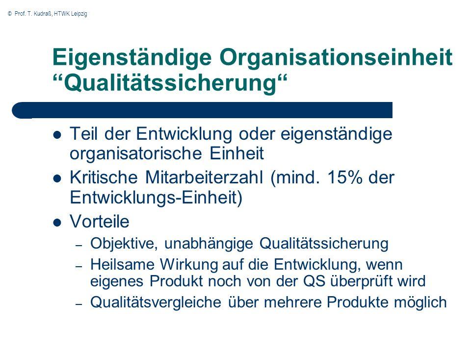 Eigenständige Organisationseinheit Qualitätssicherung