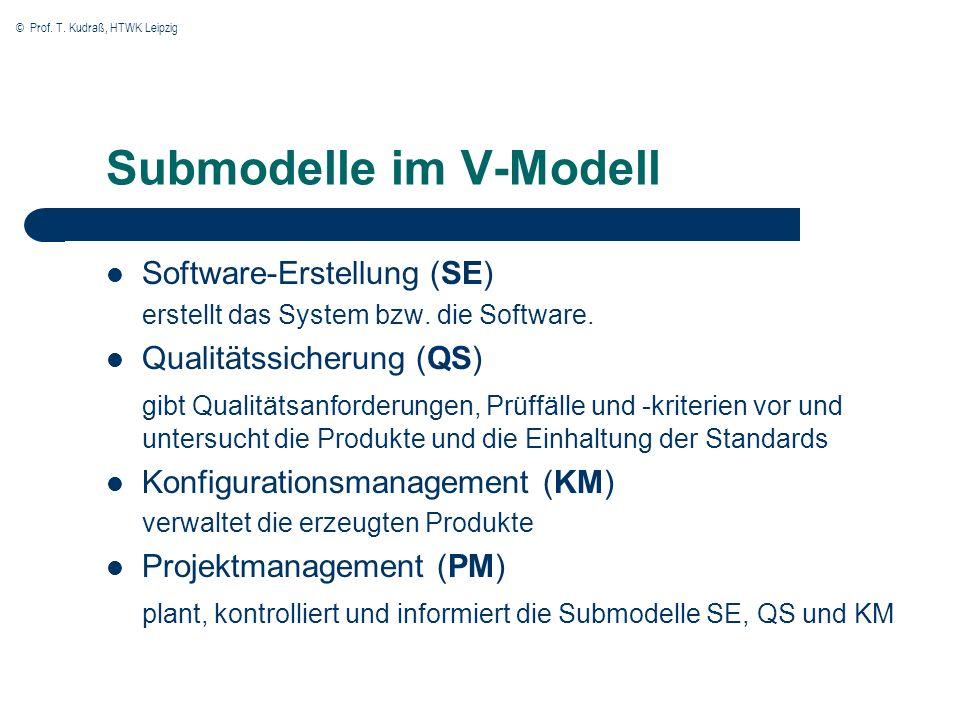 Submodelle im V-Modell