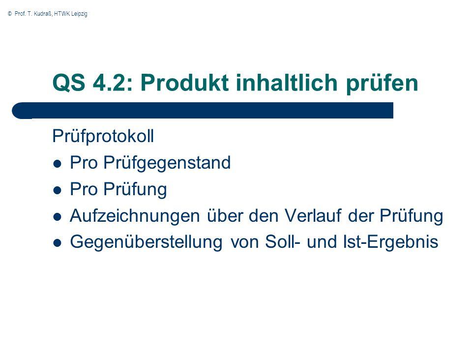 QS 4.2: Produkt inhaltlich prüfen