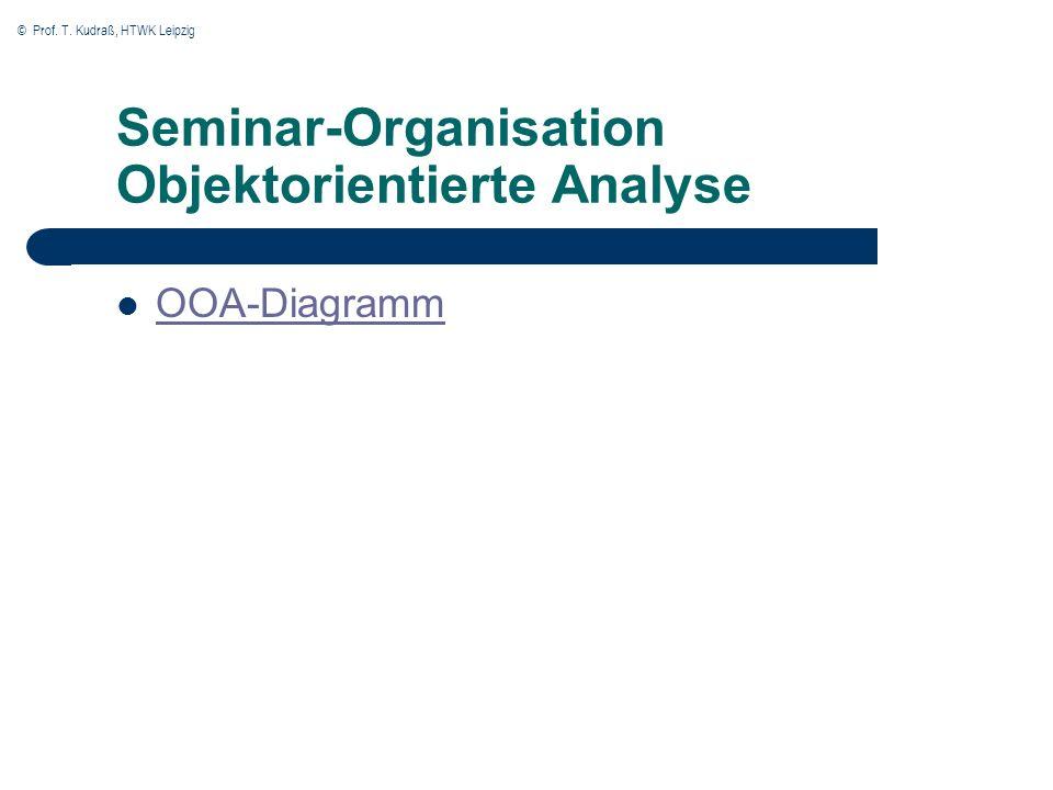 Seminar-Organisation Objektorientierte Analyse