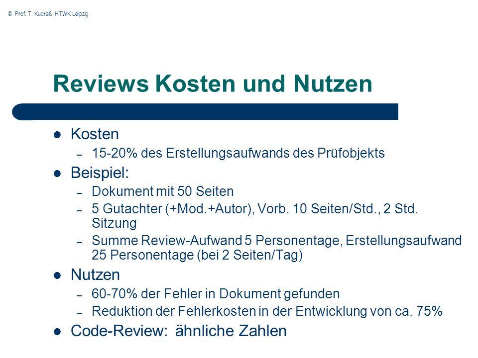 Reviews Kosten und Nutzen