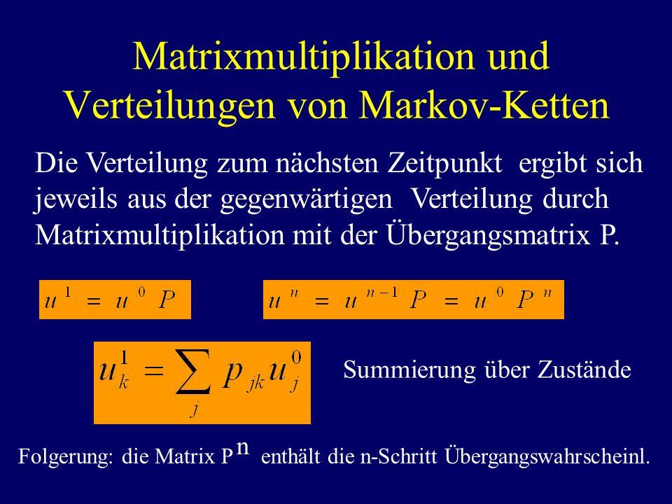 Matrixmultiplikation und Verteilungen von Markov-Ketten