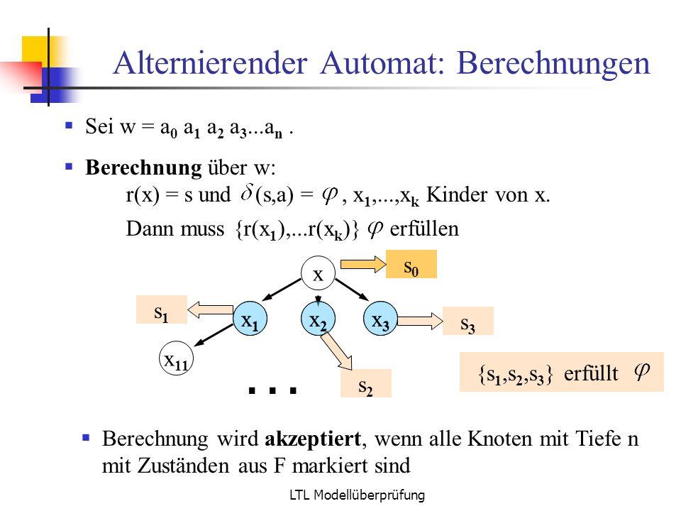 Alternierender Automat: Berechnungen