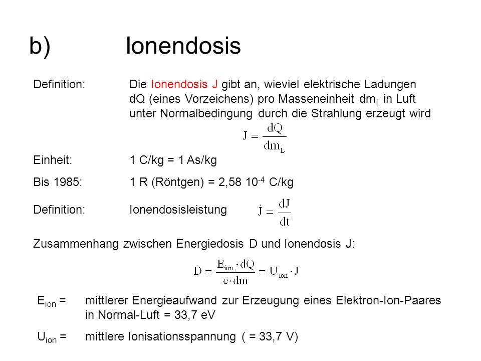 b) Ionendosis