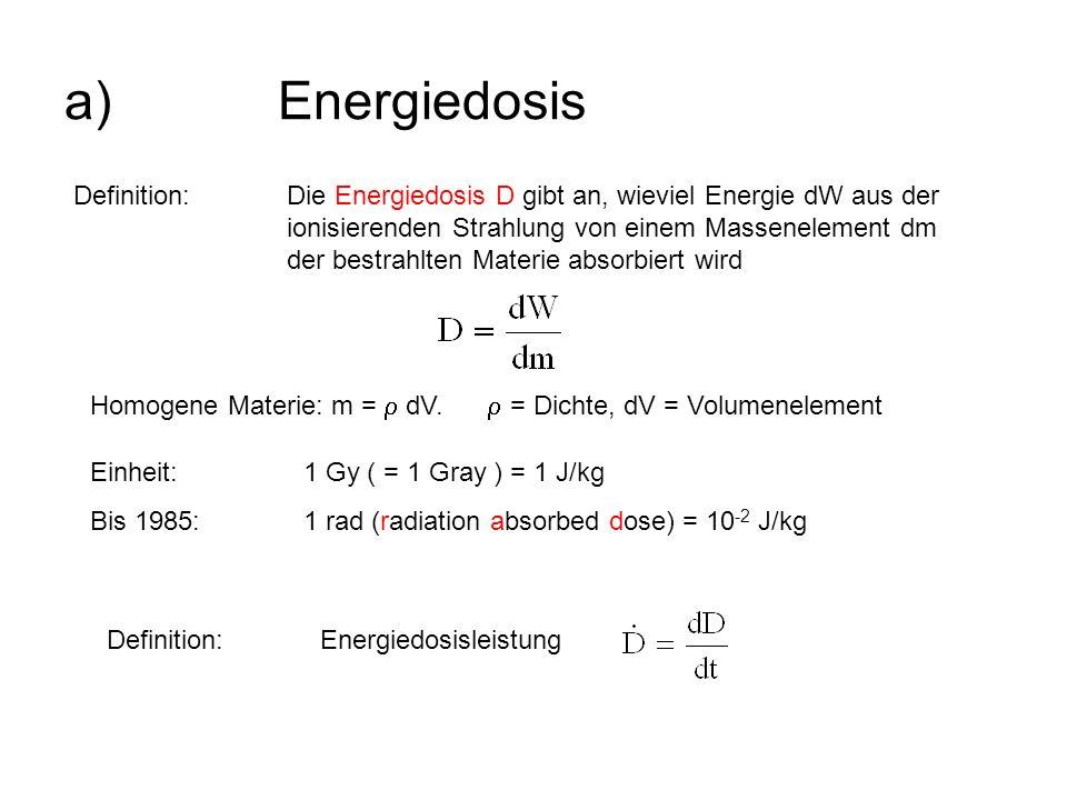 a) Energiedosis