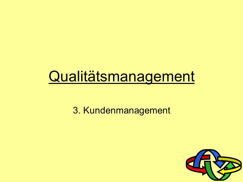 Qualitätsmanagement 3. Kundenmanagement