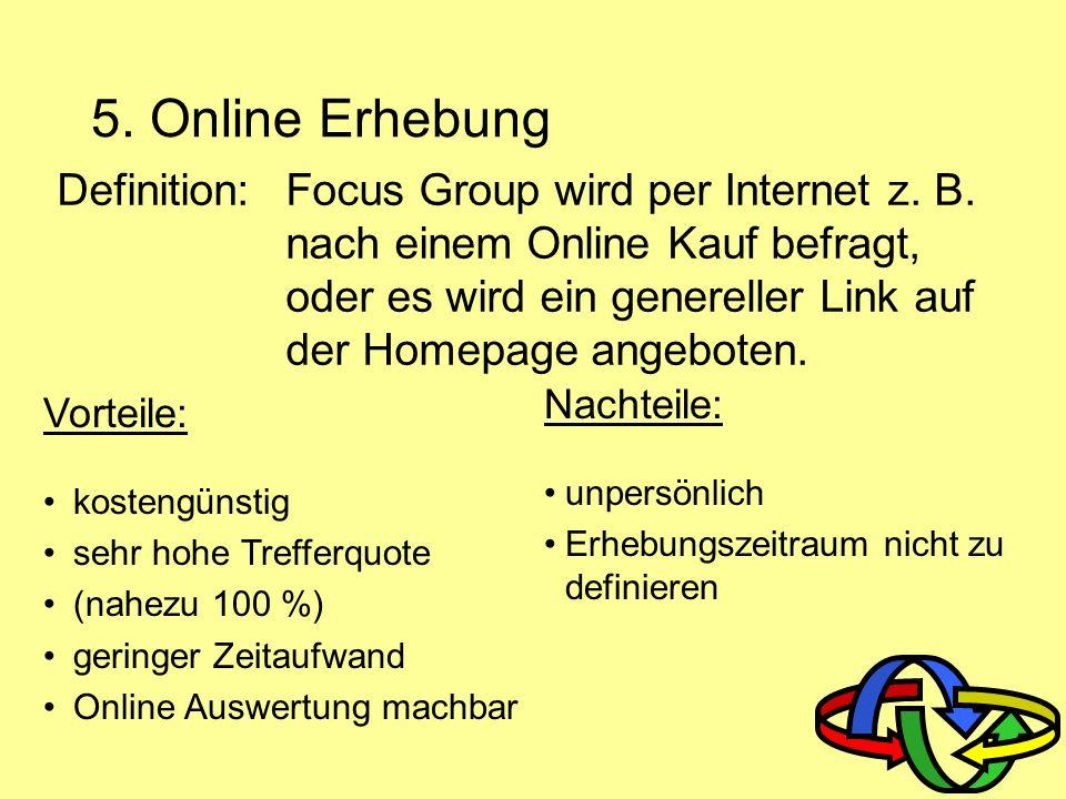 5. Online Erhebung