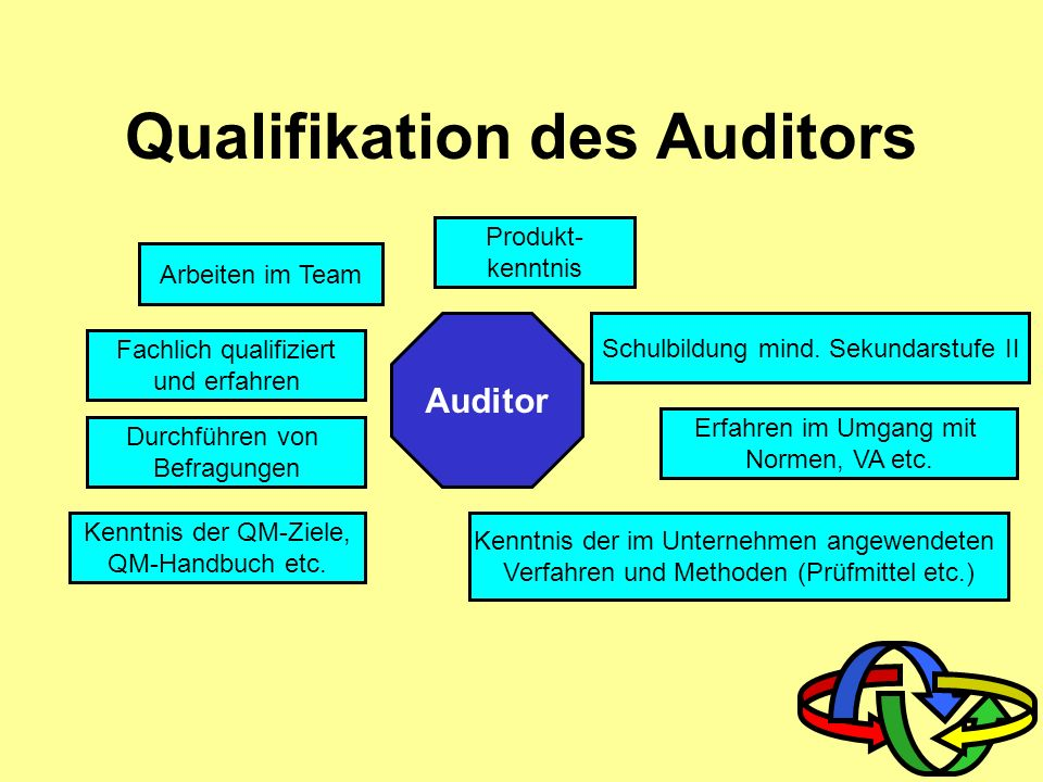 Qualifikation des Auditors
