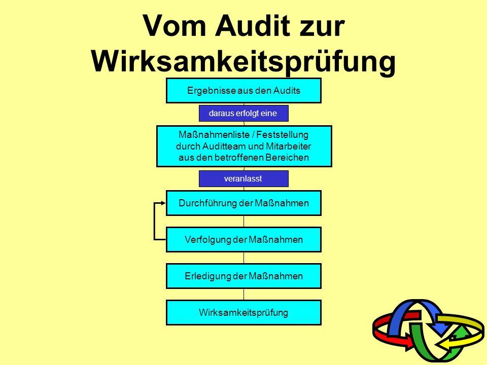 Vom Audit zur Wirksamkeitsprüfung