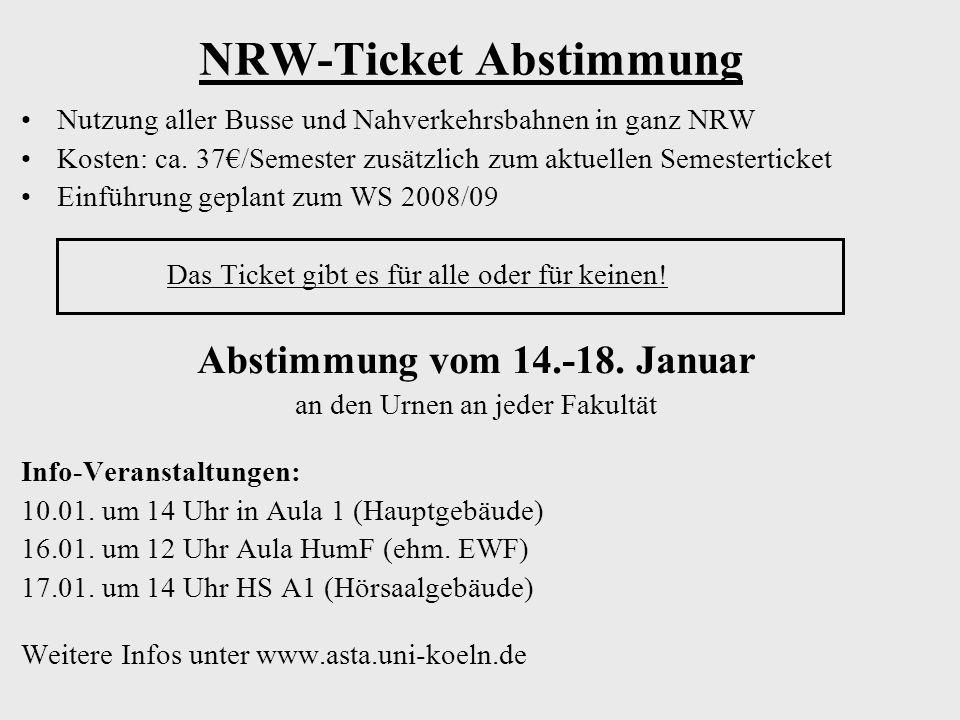 NRW-Ticket Abstimmung