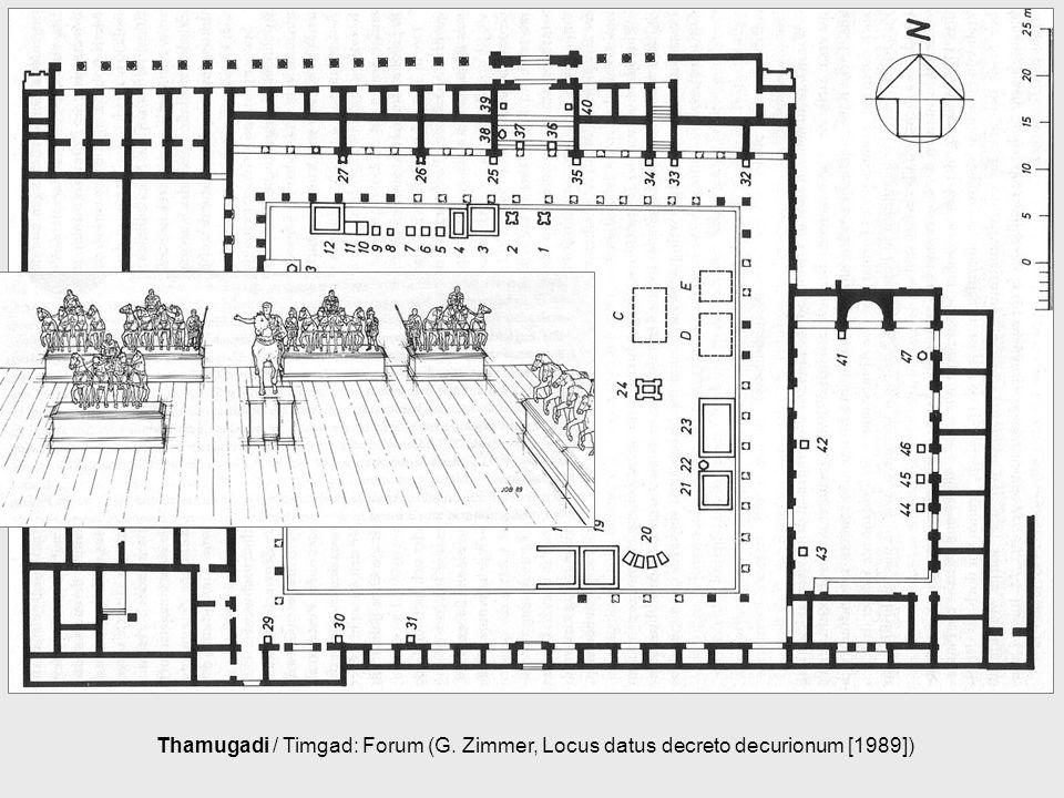 Thamugadi / Timgad: Forum (G